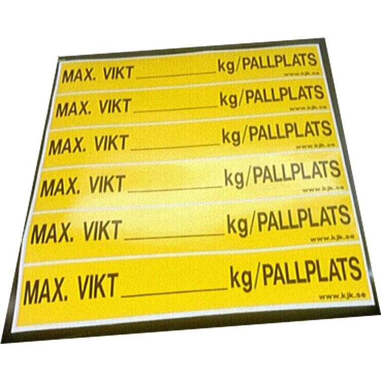 Maxlast etiketter