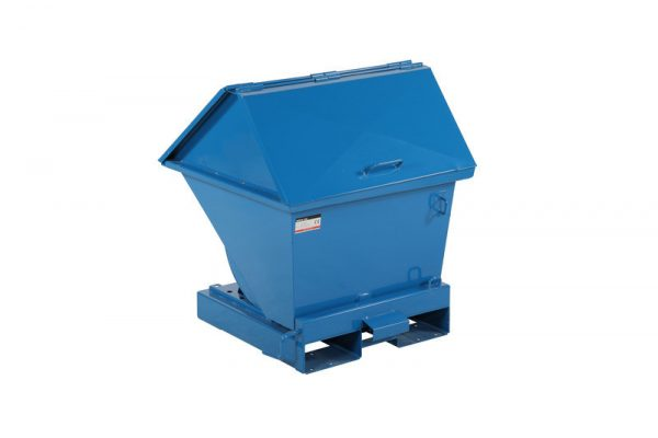 Tippcontainer med lock