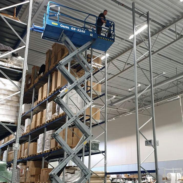 Montage lagerinredning